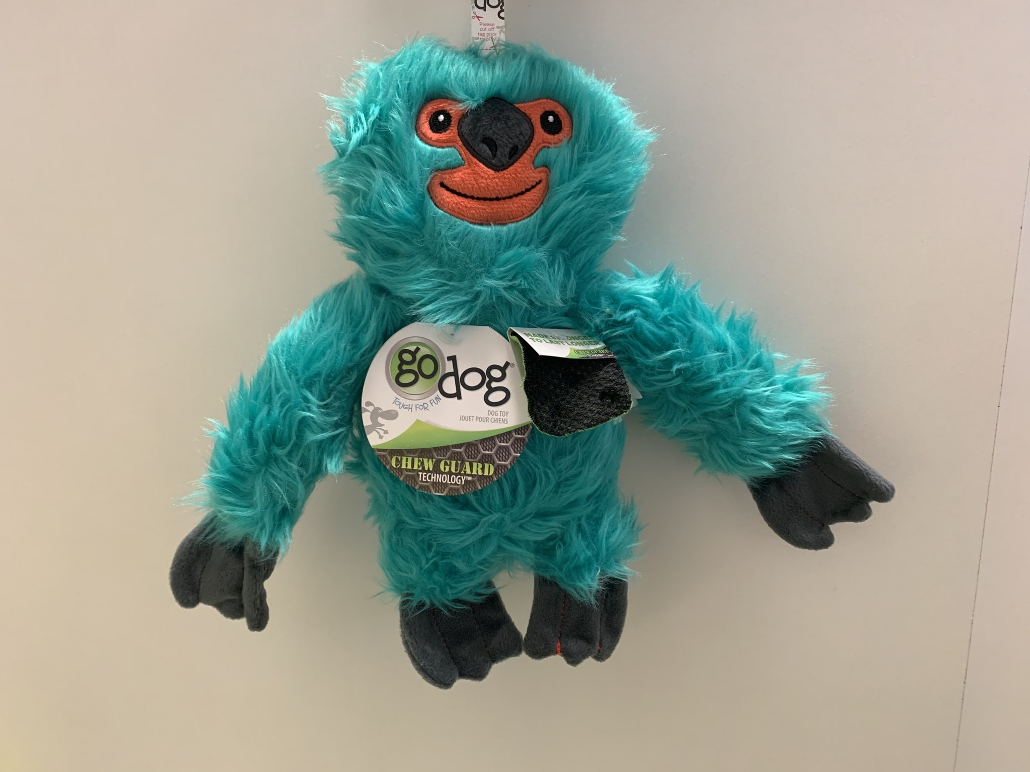 Go Dog Go Dog Fuzzy Sloth,Teal, Large