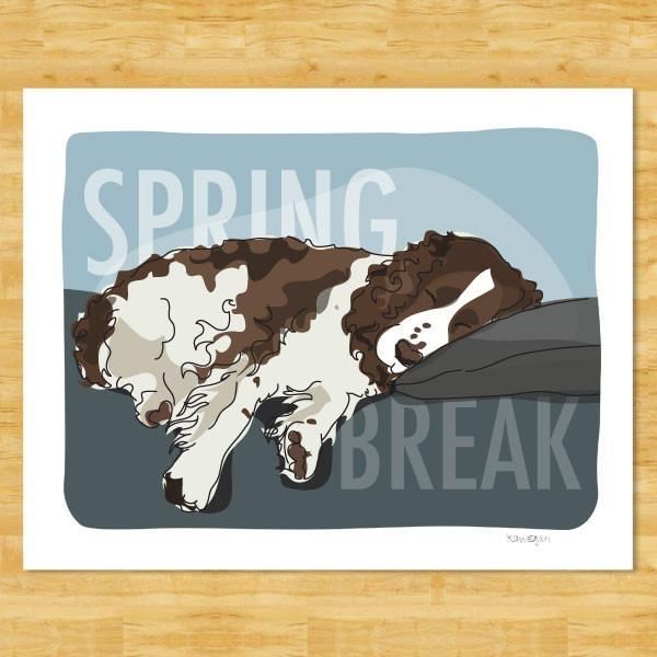 Pop Doggie Pop Doggie Red & White Springer Spaniel, Spring Break Print