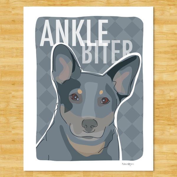 Pop Doggie Pop Doggie Blue Heeler Australian Cattle Dog Magnet, Ankle Biter
