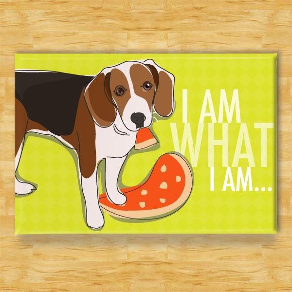 Pop Doggie Pop Doggie Beagle Magnet, I Am What I Am
