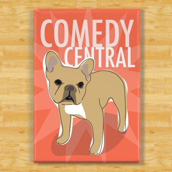 Pop Doggie Pop Doggie Fawn French Bulldog Magnet, Comedy Central