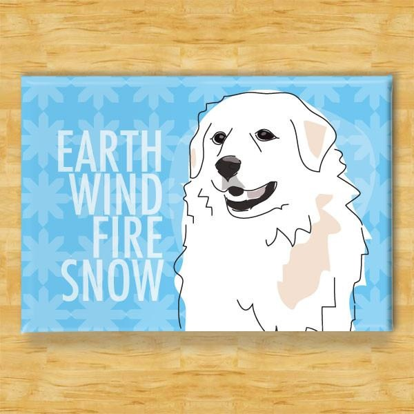Pop Doggie Pop Doggie Great Pyrenees Magnet, Earth Wind Fire Snow