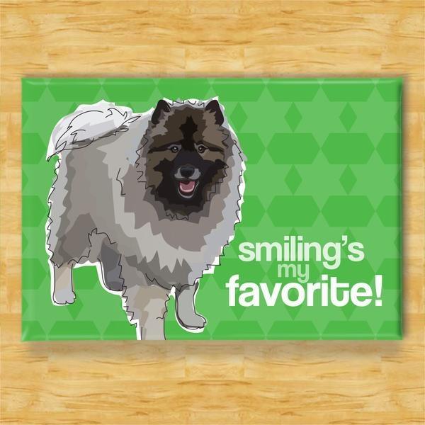 Pop Doggie Pop Doggie Keeshond Magnet, Smiling Is My Favorite