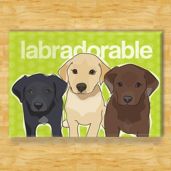 Pop Doggie Pop Doggie Black, Yellow & Chocolate Lab Magnet, Labradorable