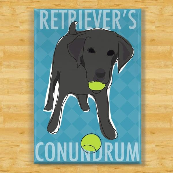 Pop Doggie Pop Doggie Black Lab Magnet, Retriever's Conundrum