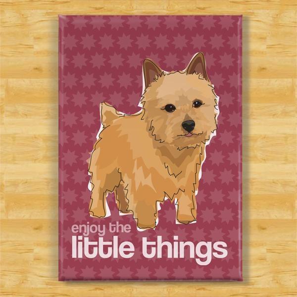 Pop Doggie Pop Doggie Norwich Terrier Magnet, It's The Little Things