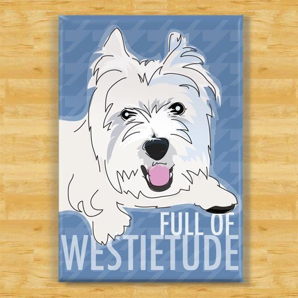 Pop Doggie Pop Doggie Westie Magnet, Full Of Westietude