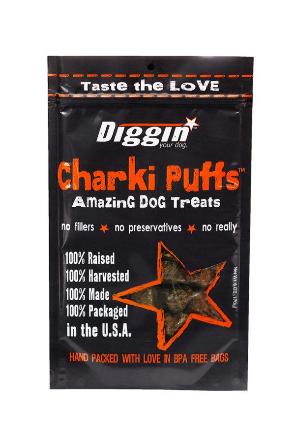 Diggin Your Dog Diggin Your Dog Charki Puffs, Beef Lung & Liver, 6oz Bag