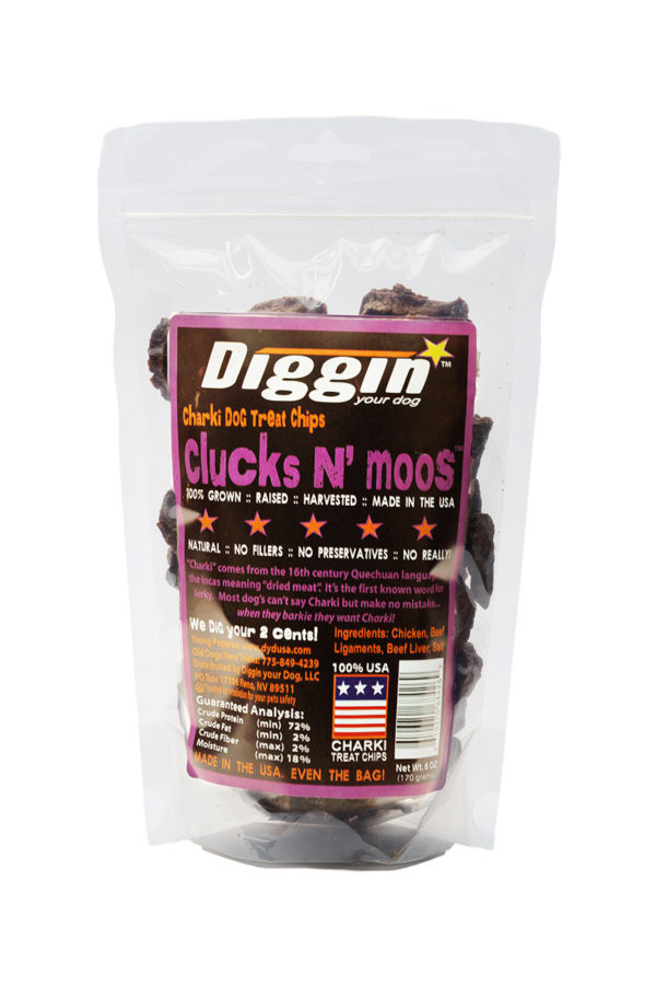 Diggin Your Dog Diggin Your Dog Clucks N' Moos, Chicken & Beef Treat Chips, 6oz Bag