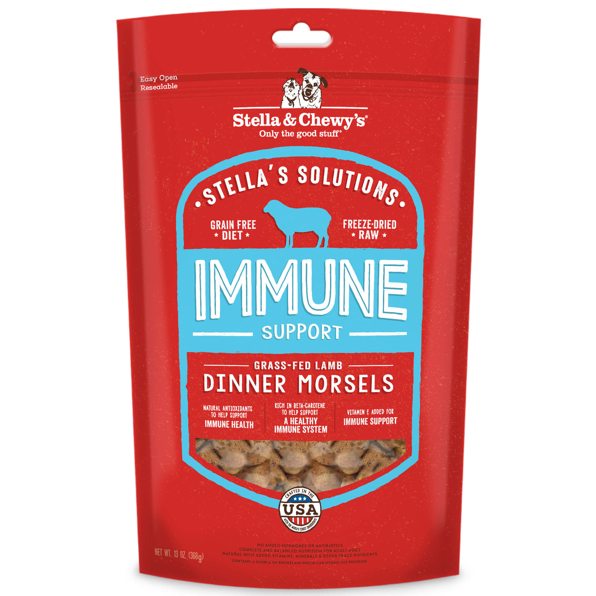 Stella & Chewys Stella & Chewys Stella's Solutions Immune Support Freeze Dried Dinner Morsels 13 oz