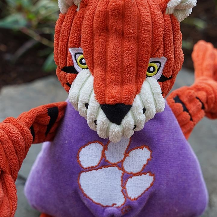 HuggleHounds HuggleHounds Collegiate Mascot Clemson The Tiger Small