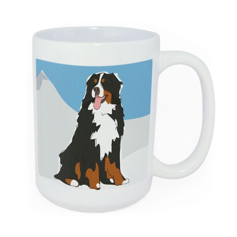 Pop Doggie Pop Doggie Bernese Mug, Time To Walk The Dog