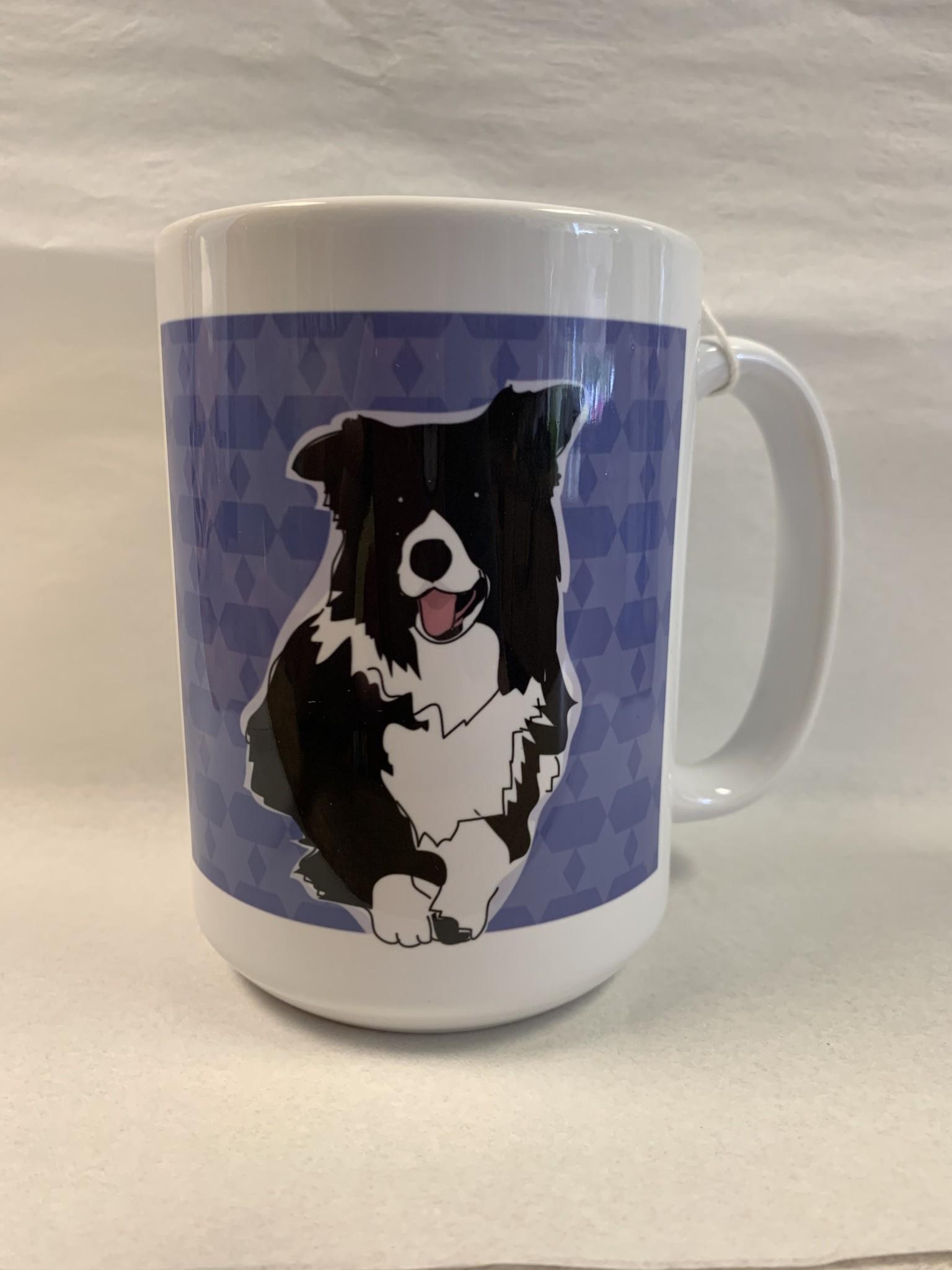 Pop Doggie Pop Doggie Border Collie Mug, Time To Walk The Dog