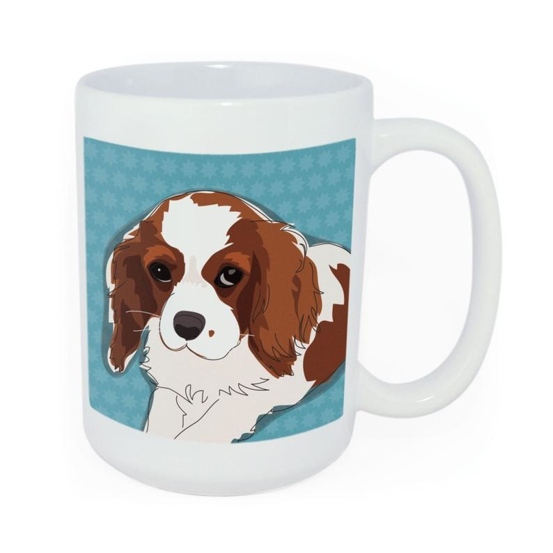 Pop Doggie Pop Doggie Cavalier King Charles Mug, Time To Walk The Dog