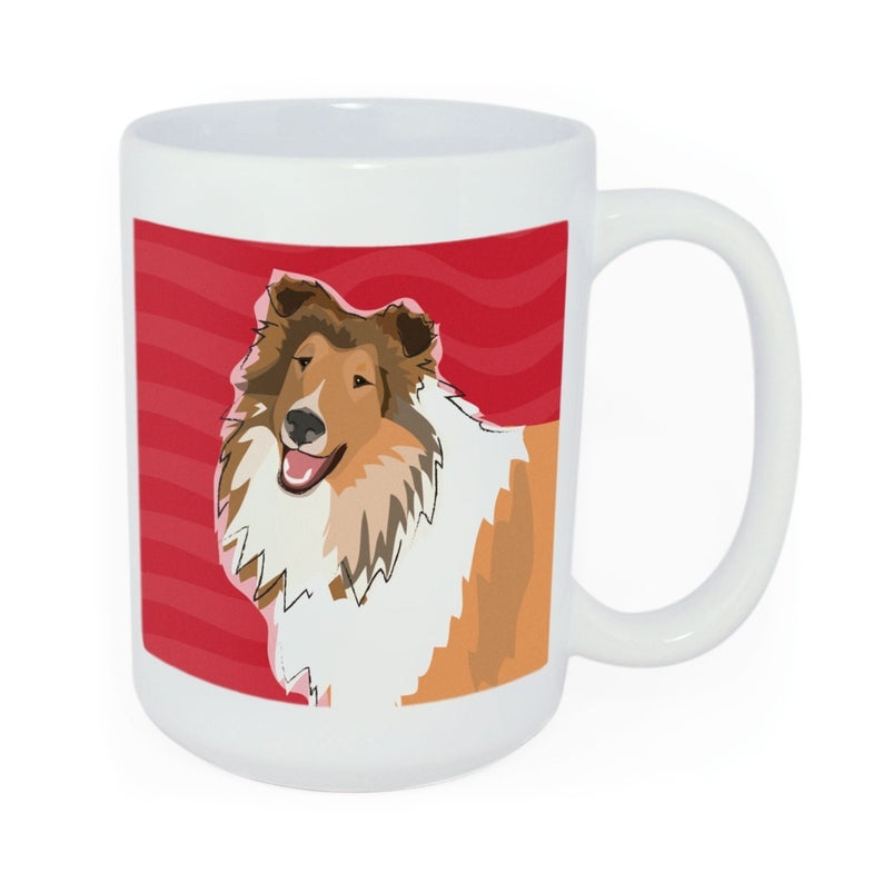 Pop Doggie Pop Doggie Collie Mug, Time To Walk The Dog