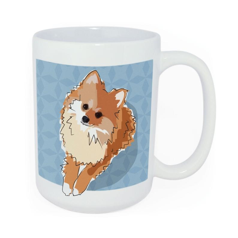Pop Doggie Pop Doggie Pomeranian Mug, Time To Walk The Dog