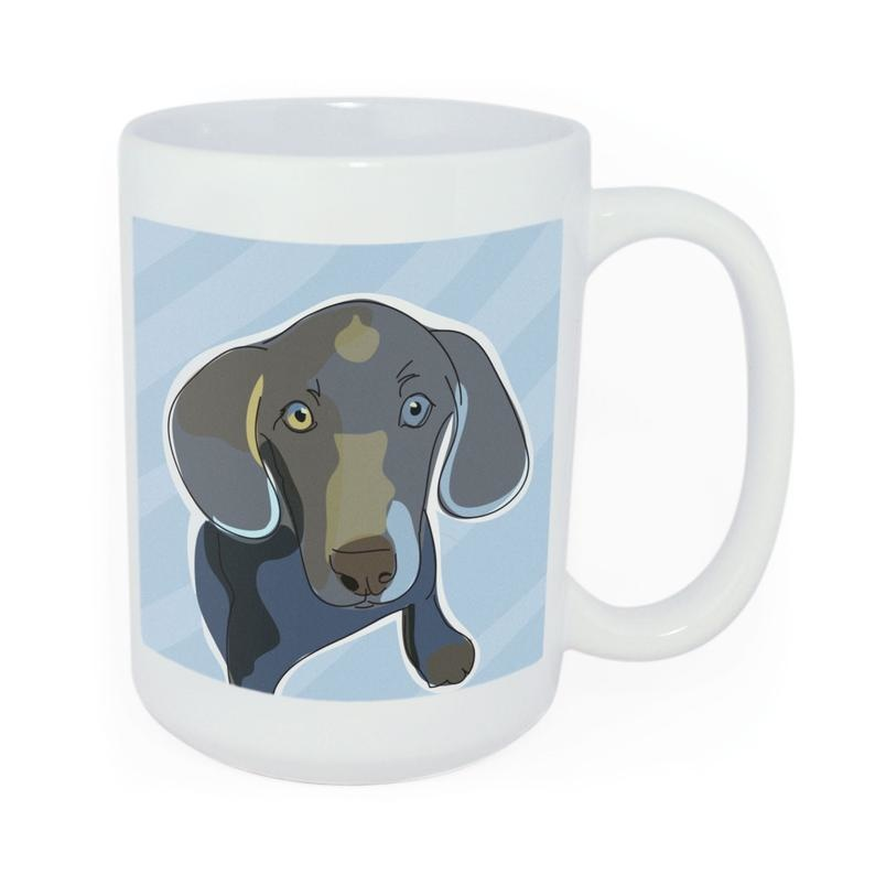 Pop Doggie Pop Doggie Weimaraner Mug, Time To Walk The Dog