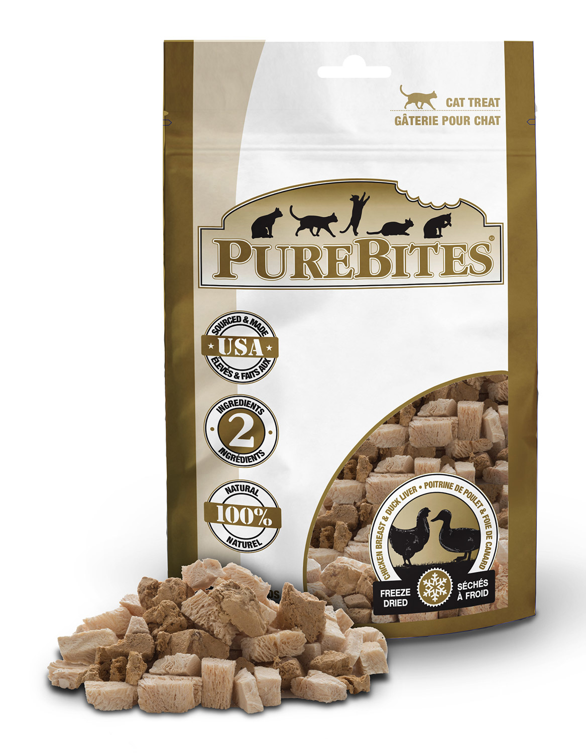 Pure Bites Pure Bites Chicken Breast & Duck Liver For Cats  1.12oz