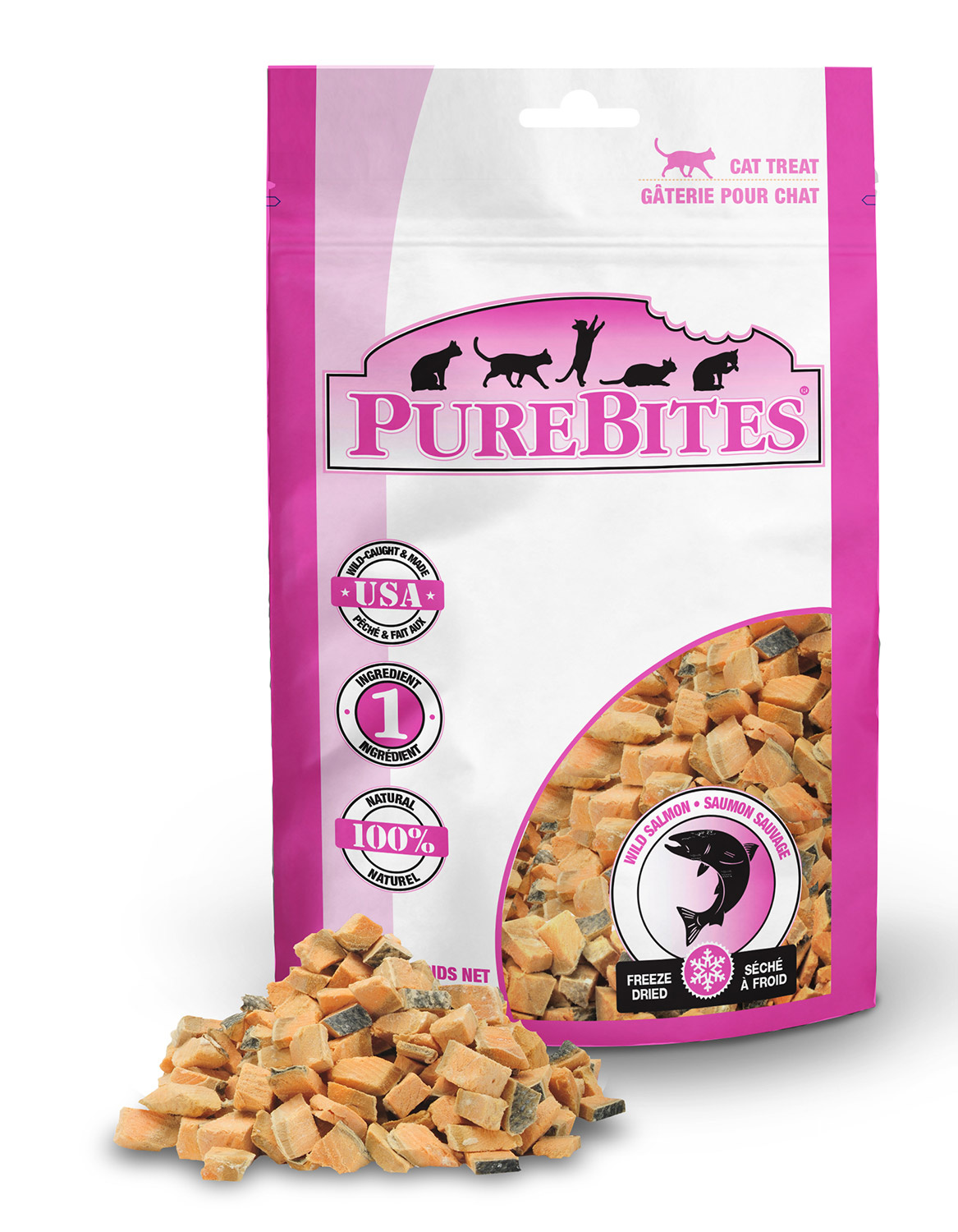 Pure Bites Pure Bites Salmon For Cats  .92oz