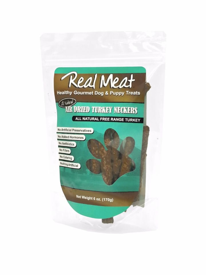 The Real Meat Real Meat Turkey Neckers 6oz