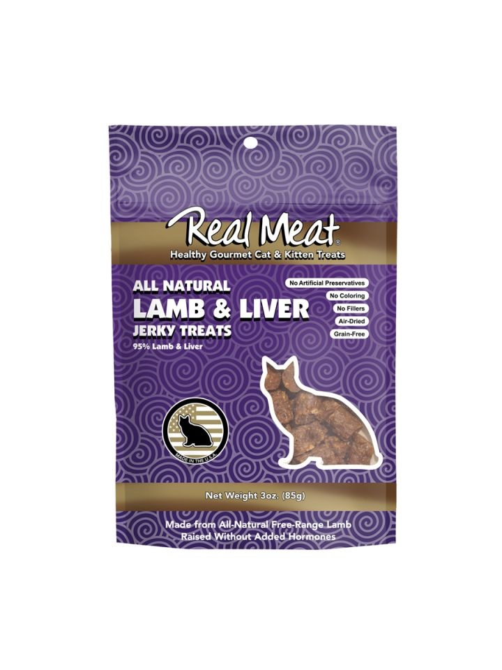 The Real Meat Real Meat Lamb & Liver Jerky For Cats 3oz