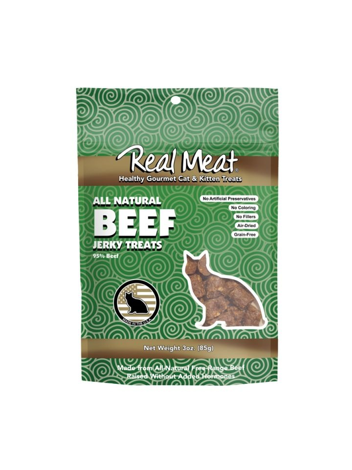 The Real Meat Real Meat Beef Jerky For Cats 3oz
