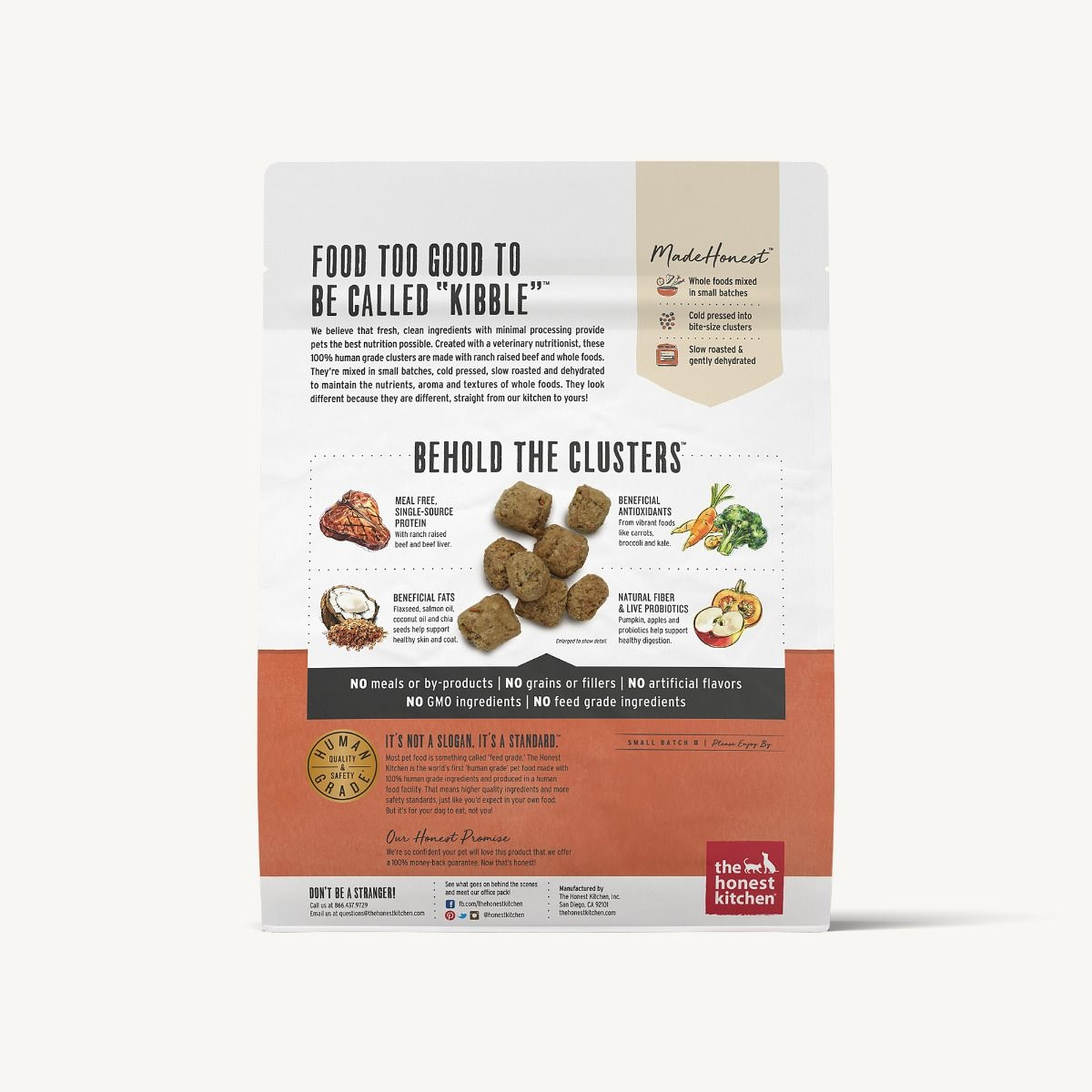 The Honest Kitchen Honest Kitchen Grain Free Beef Recipe Whole Food Clusters