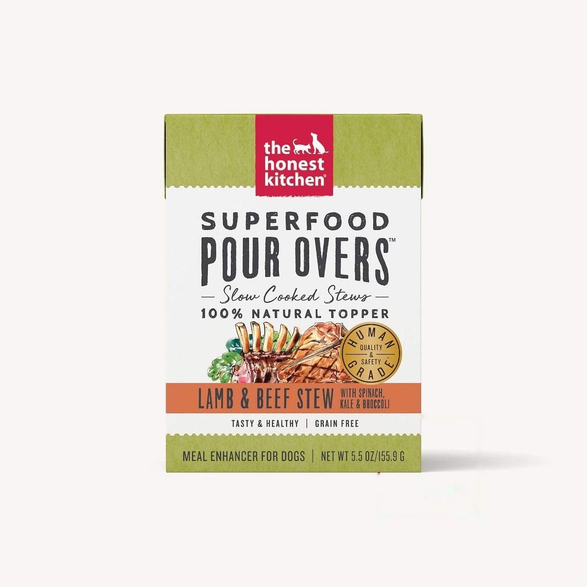 The Honest Kitchen Honest Kitchen Superfood Pour Overs  Lamb & Beef Stew With Spinach, Kale & Broccoli 5.5oz Carton