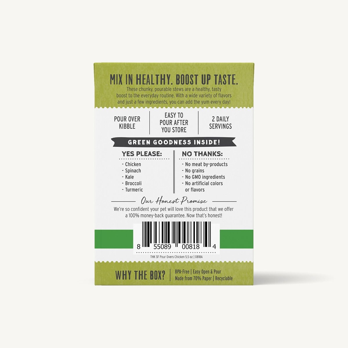 The Honest Kitchen Honest Kitchen Superfood Pour Overs Chicken Stew With Spinach, Kale, & Broccoli 5.5oz Carton