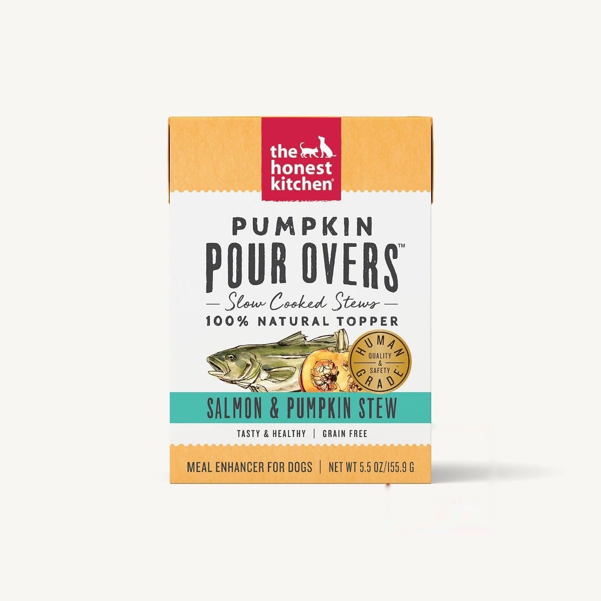 The Honest Kitchen Honest Kitchen Pumpkin Pour Overs Salmon & Pumpkin Stew 5.5oz Carton