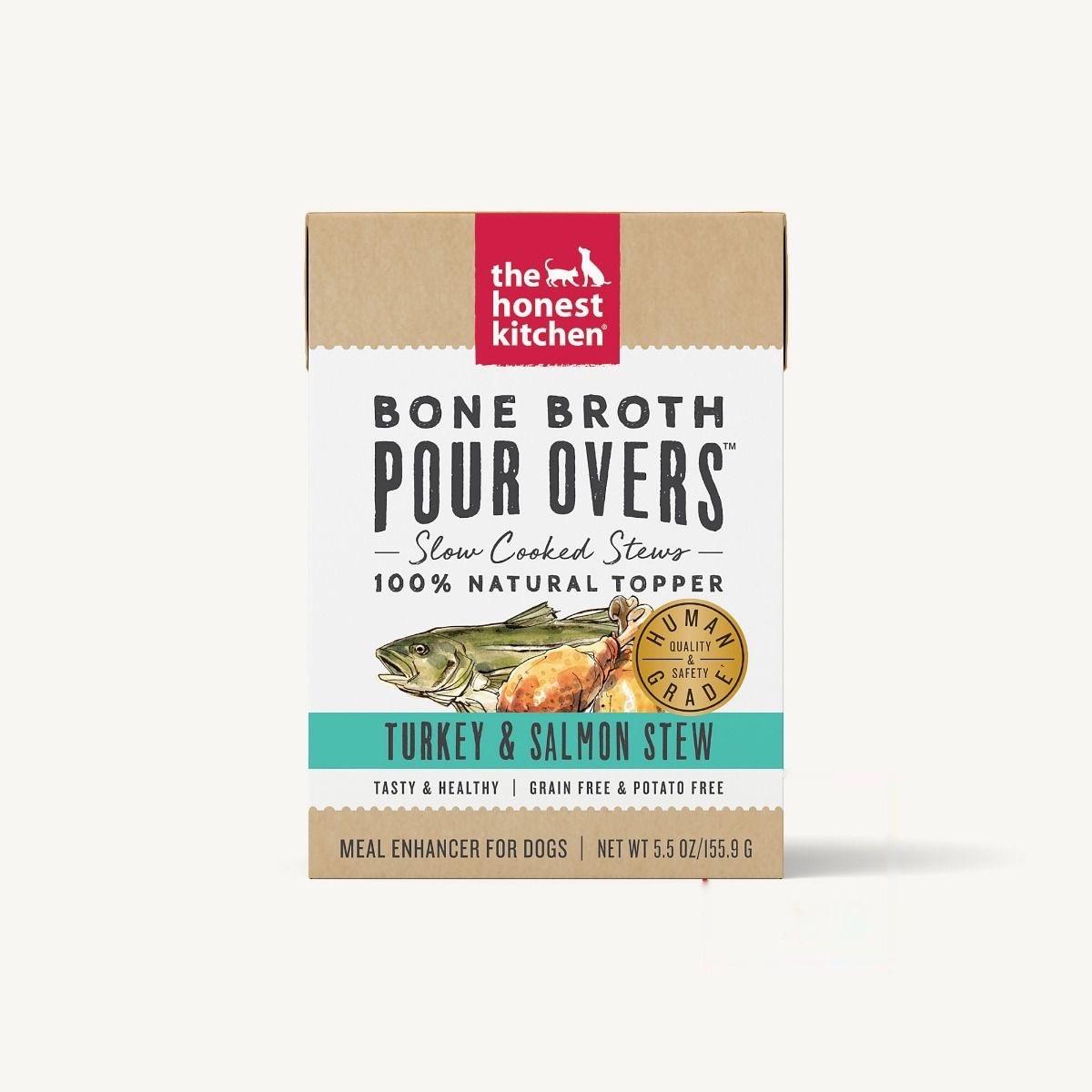 The Honest Kitchen Honest Kitchen Bone Broth Pour Overs Turkey & Salmon Stew 5.5oz Carton