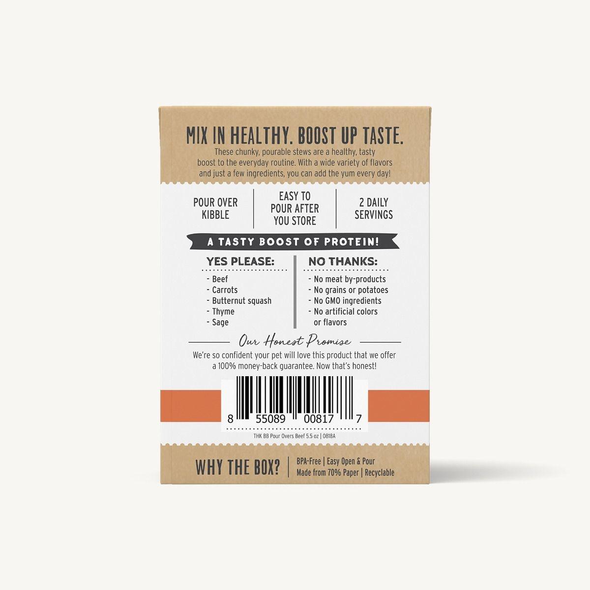 The Honest Kitchen Honest Kitchen Bone Broth Pour Overs Beef Stew 5.5oz Carton