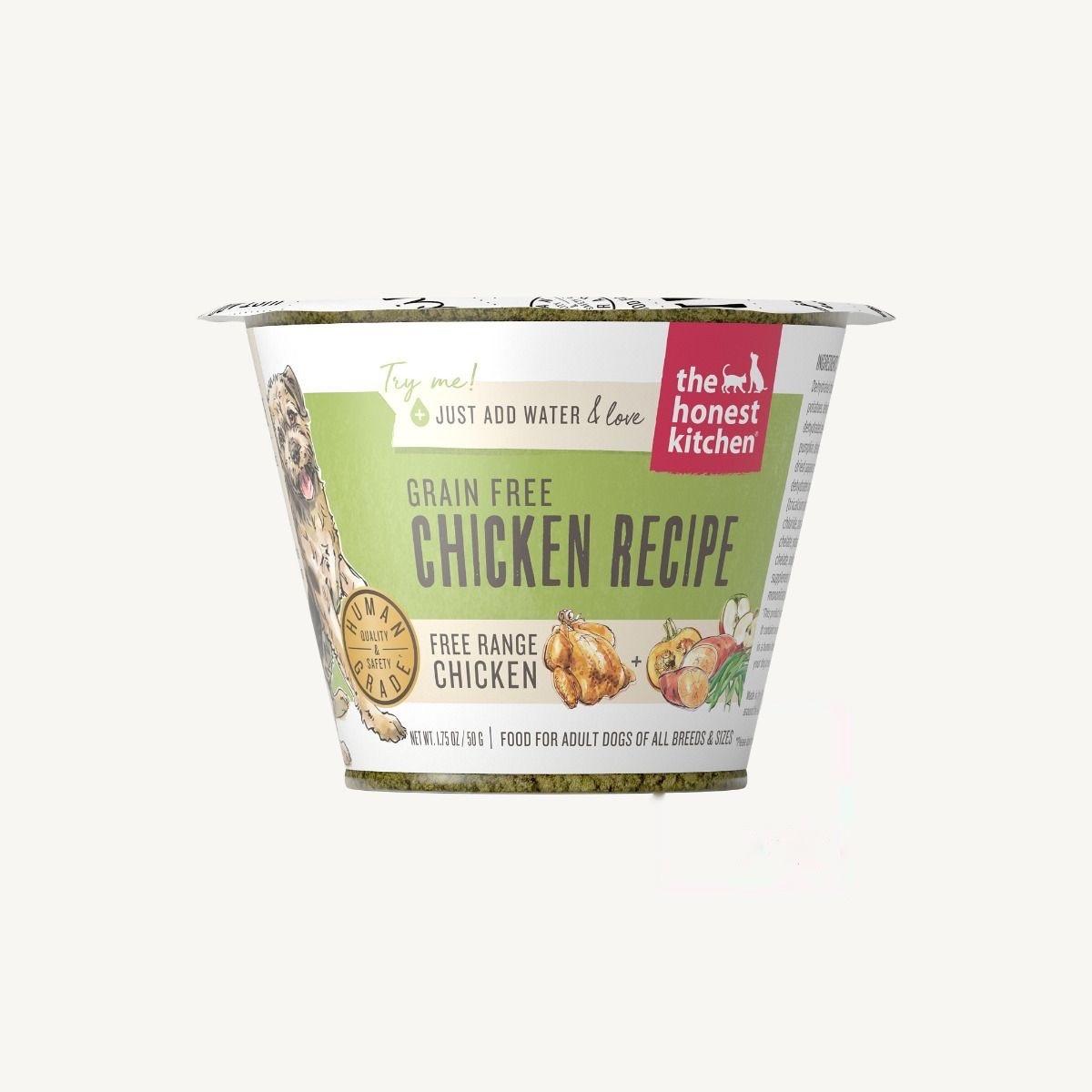 The Honest Kitchen Honest Kitchen Dehydrated Grain Free Chicken Recipe 1.75oz Single Serve Cup
