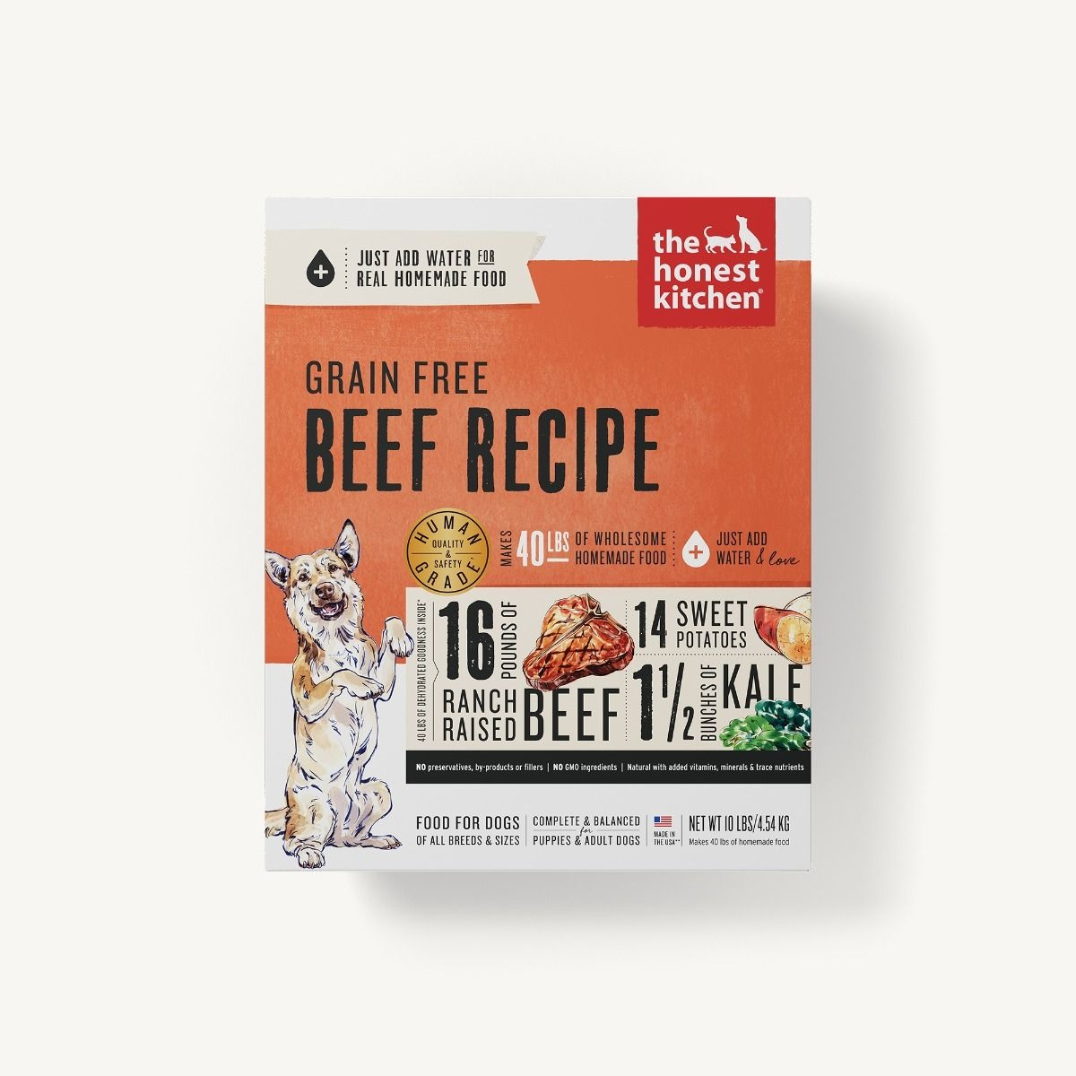 The Honest Kitchen Honest Kitchen Dehydrated Grain Free Beef Recipe