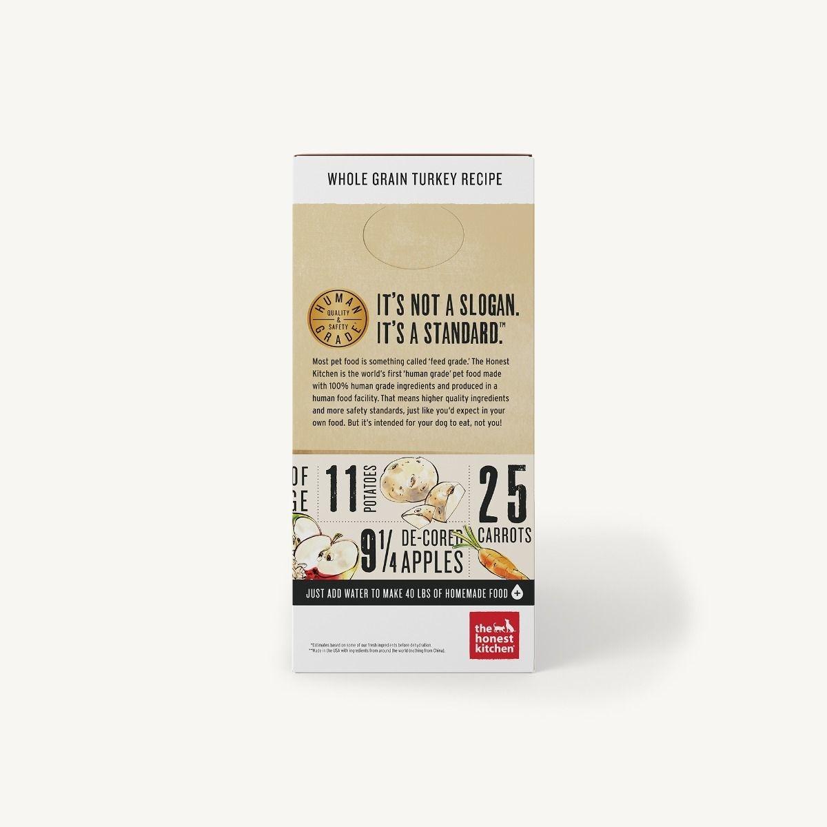 The Honest Kitchen Honest Kitchen Dehydrated Whole Grain Turkey Recipe