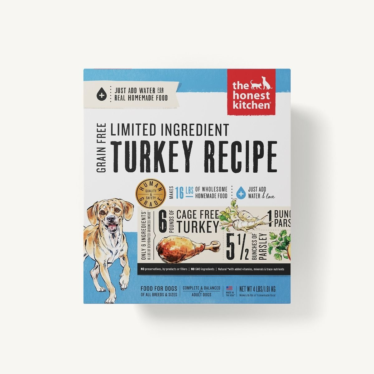 The Honest Kitchen Honest Kitchen Dehydrated Limited Ingredient Turkey Recipe