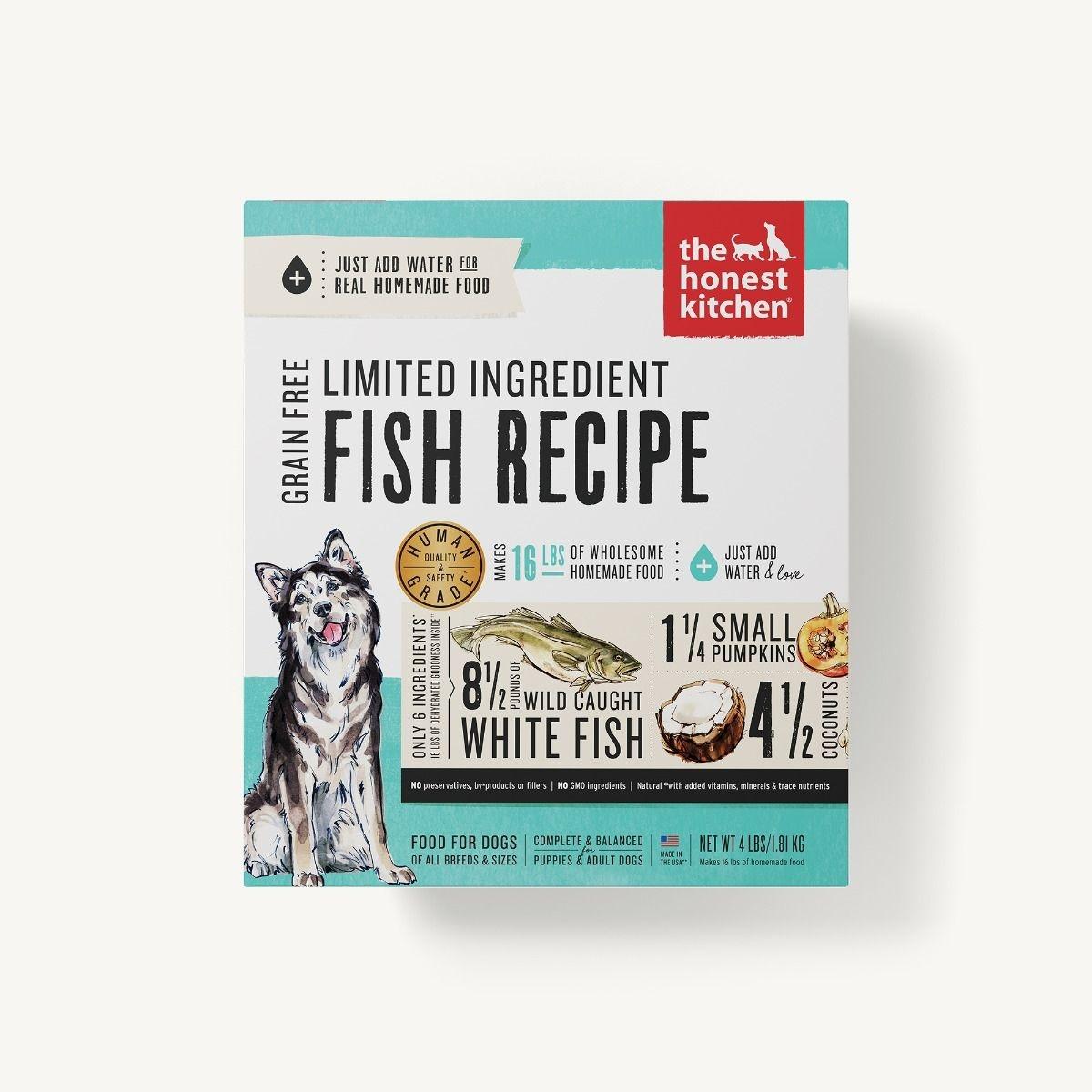 The Honest Kitchen Honest Kitchen Dehydrated Limited Ingredient Fish Recipe
