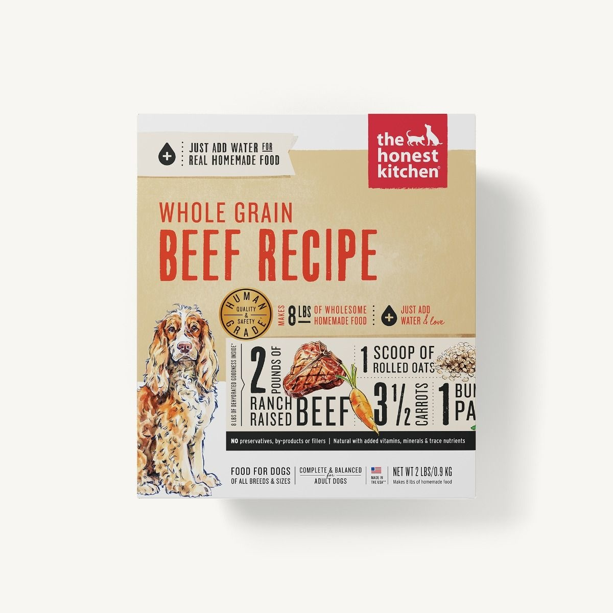 The Honest Kitchen Honest Kitchen Dehydrated Whole Grain Beef Recipe