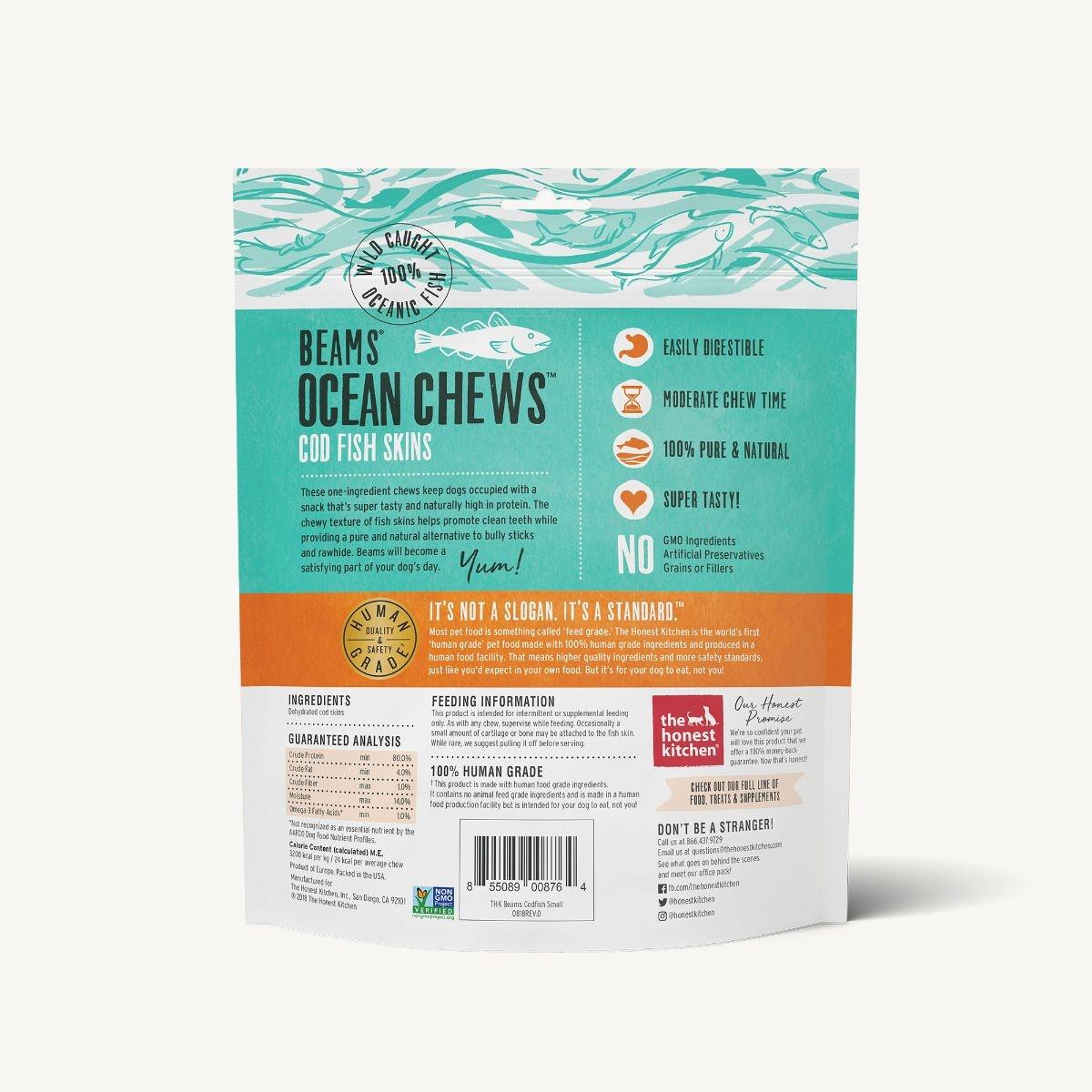 The Honest Kitchen Honest Kitchen Beams Ocean Chews Cod Skins