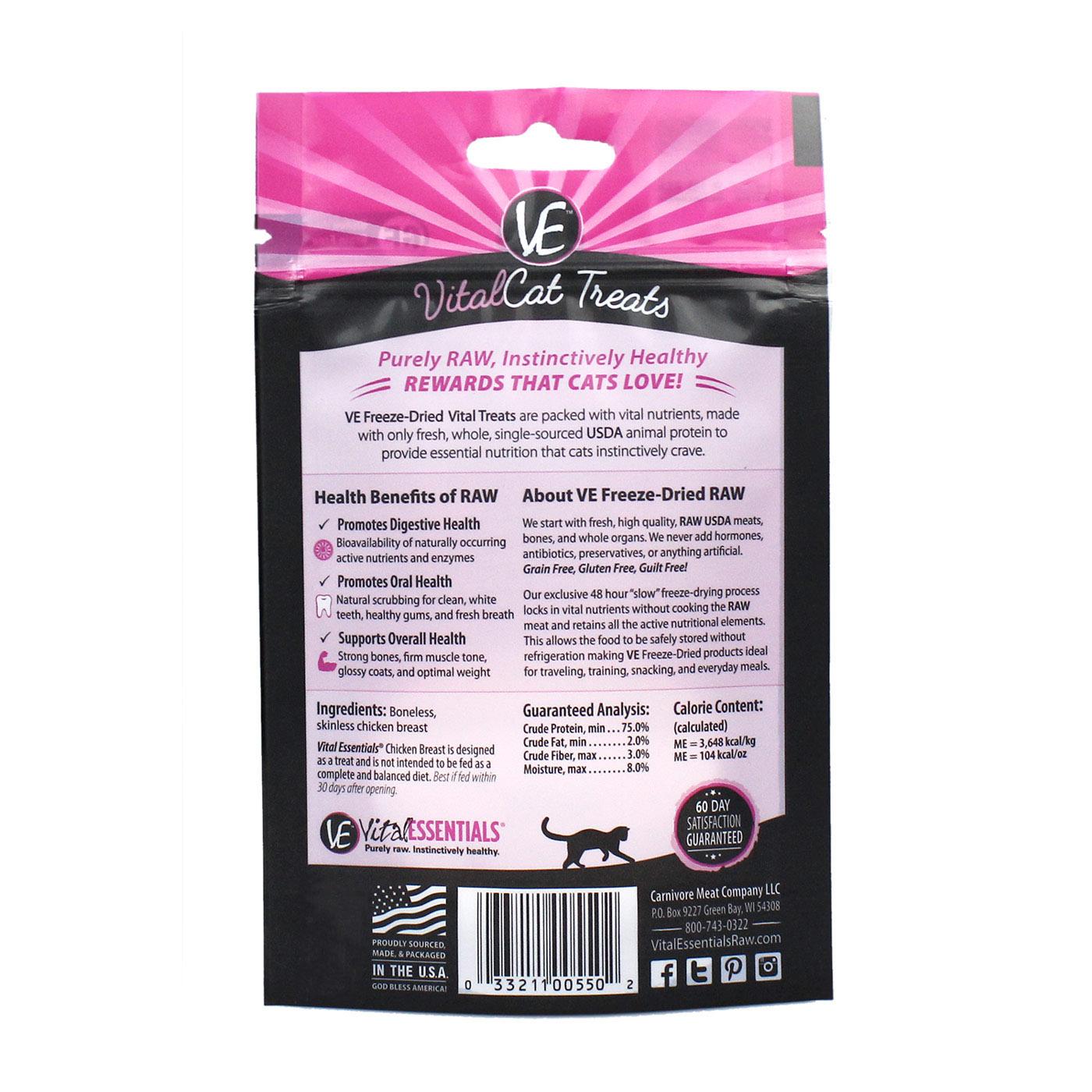 Vital Essentials Vital Essentials Freeze Dried Chicken Breast For Cats 1oz