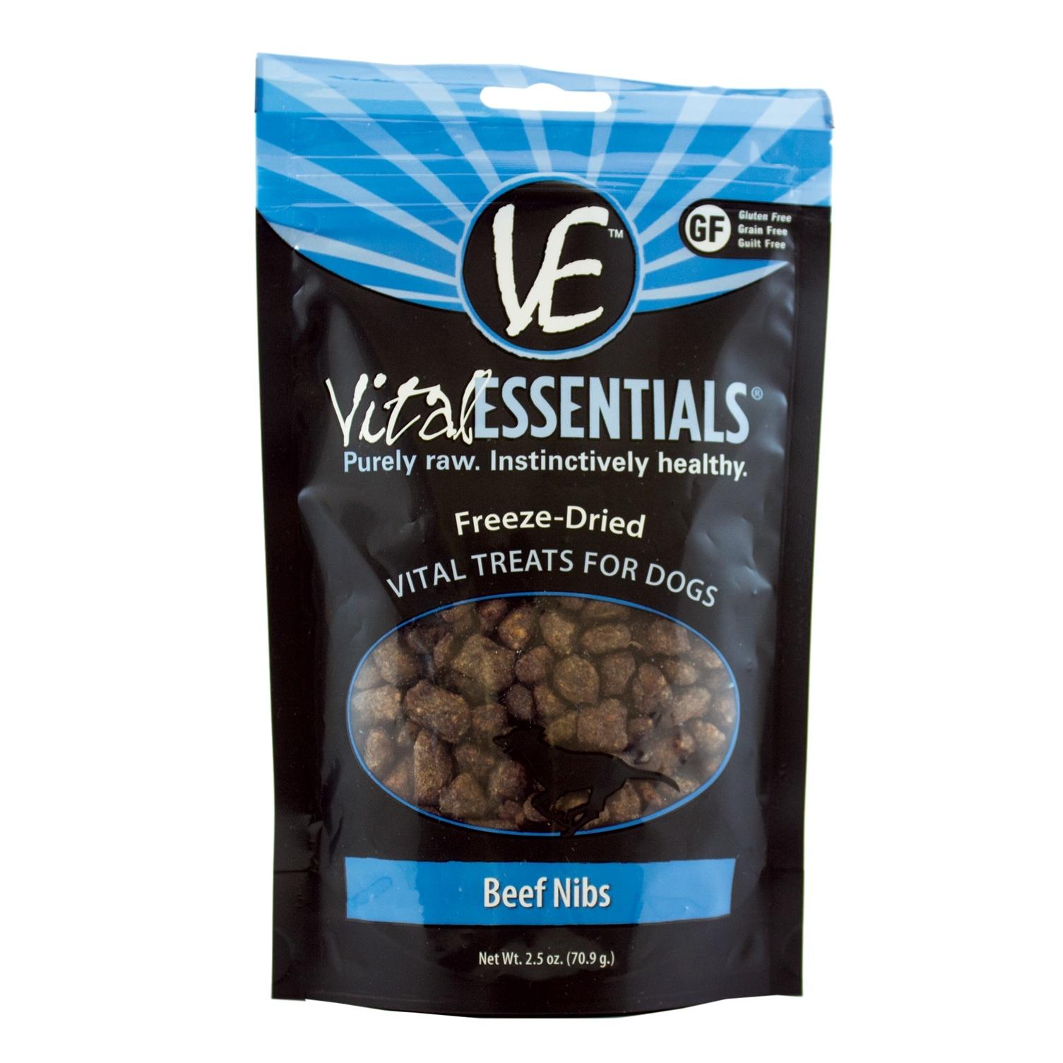Vital Essentials Vital Essentials Beef Nibs Freeze Dried 2.5oz