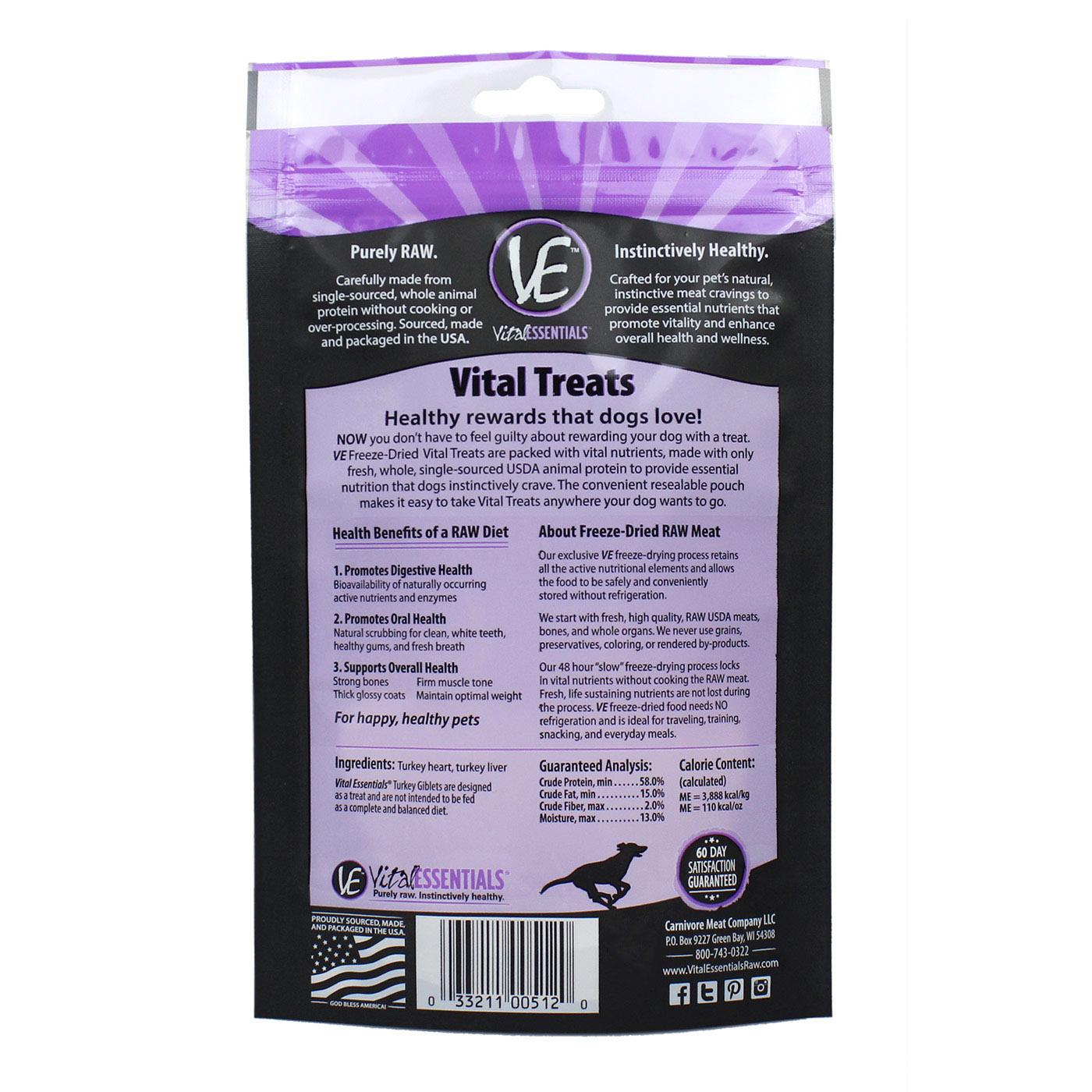 Vital Essentials Vital Essentials Turkey Giblets Freeze Dried 2oz