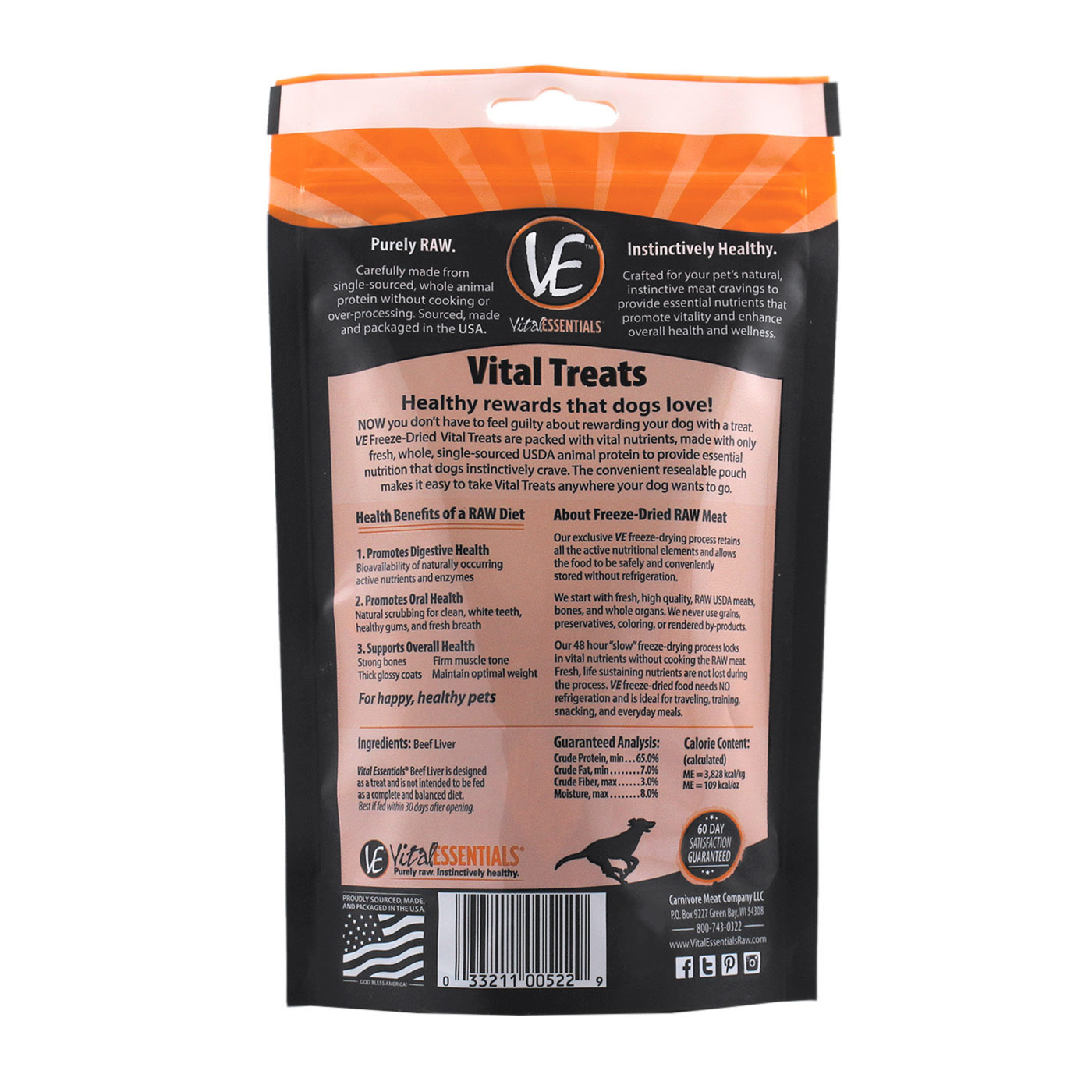 Vital Essentials Vital Essentials Beef Liver Freeze Dried 2.1oz