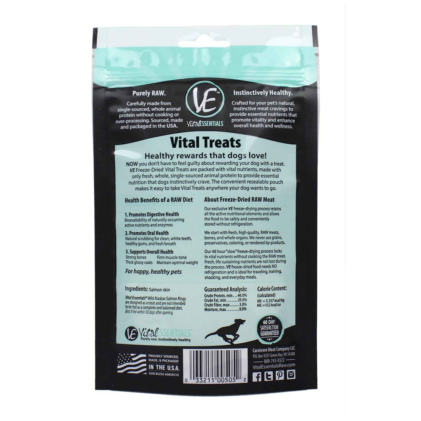 Vital Essentials Vital Essentials Salmon Rings Freeze Dried 2oz