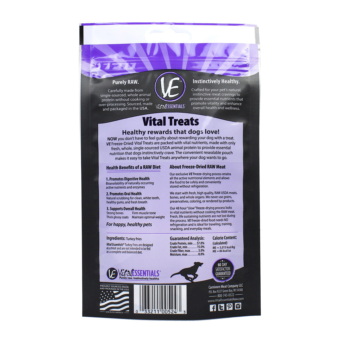Vital Essentials Vital Essentials Turkey Fries Freeze Dried 1.5oz