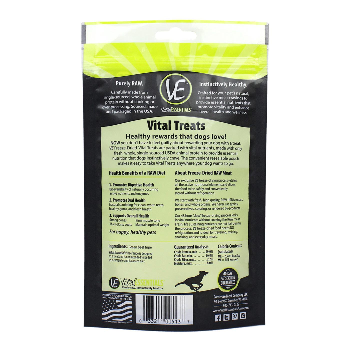 Vital Essentials Vital Essentials Beef Tripe Freeze Dried 2.3oz