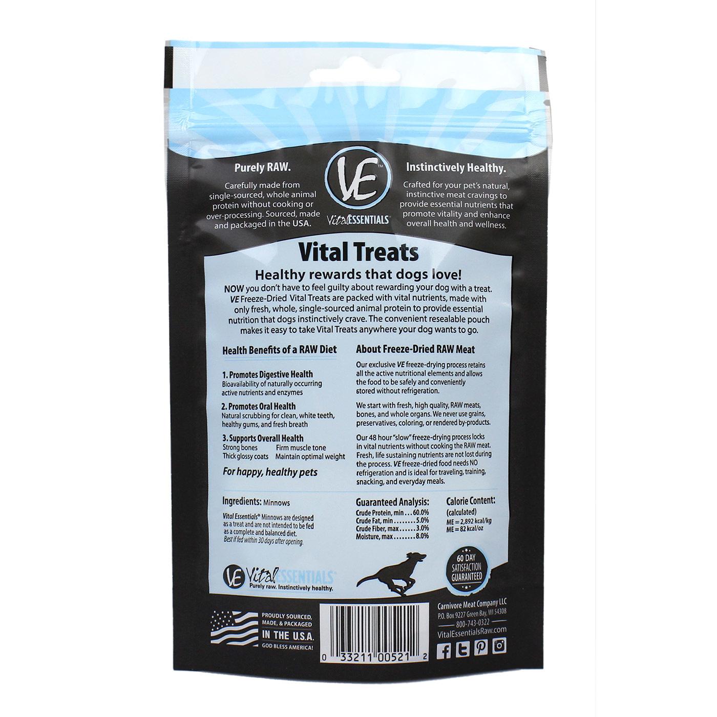 Vital Essentials Vital Essentials Minnows Dog Freeze Dried 1oz