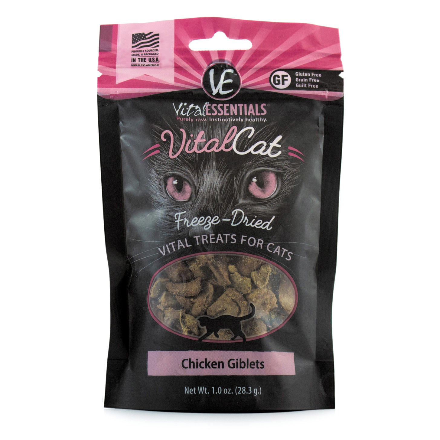 Vital Essentials Vital Essentials Freeze Dried Chicken Giblets For Cats 1oz