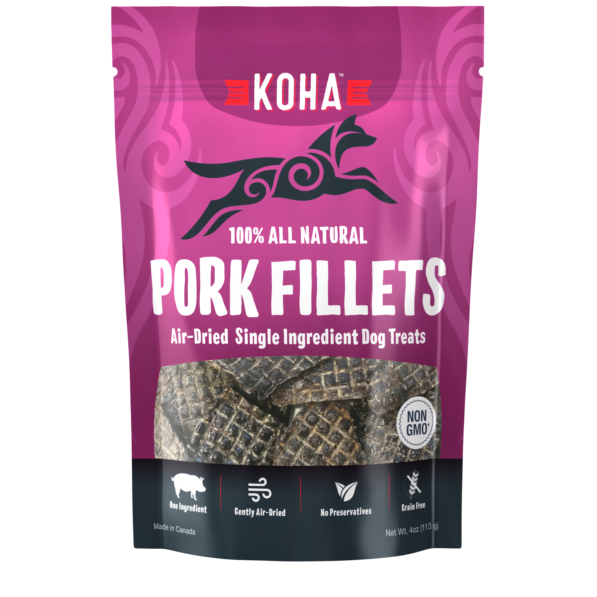Koha Koha Air Dried Single Ingredient Pork Fillets 4oz