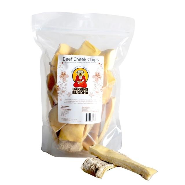 Barking Buddha Barking Buddha Peanut Butter Beef Cheek Chips 1lb